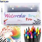 24pcs Set Watercolor Brush Marker Pens Dual Tips Soft Fine Art Paint Drawing Pen