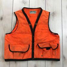 Terra Tech XXL Orange Cruiser Vest Hunting Woodsman Back Pouch USA Made