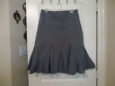 Promiss Sz 40 (10 or M in US) Gored Skirt Striped Gray Black