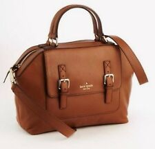 KATE SPADE Raquelle Allen Street LEATHER Satchel Bag Purse Cognac Saddle Brown