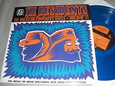 THE RESIDENTS Stars & Hank Forever BLUE VINYL LP record album 1986 Ralph EX/NM
