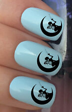 NAIL ART SET #329. x24 MOON FAIRY STAR DUST WATER TRANSFERS DECALS STICKERS