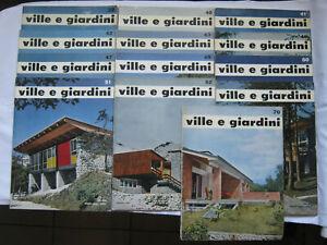 LOTTO DI 13 RIVISTA VILLE E GIARDINI 1958-61 ARCHITETTURA DESIGN CASA GORLICH