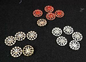 5 Red,Gold or Silver Diamante Crystal Embellishments Craft Jewellery Making 22mm