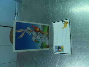 OFFICIAL USA POST BUGS BUNNY PRE PAID POSTCARD LOONEY TUNES DAFFY DUCK