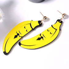 EG_ Women's Funny Acrylic Banana Pendant Ear Stud Earrings Party Jewelry Fashion