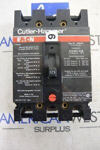 EATON CUTLER HAMMER FS340125B F FRAME 3P 480V 125 AMP CIRCUIT BREAKER - TESTED