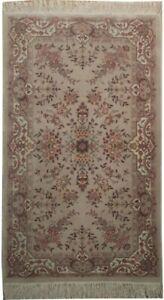 Wool & Silk Handmade Rug 3 x 5 Pastel Jewel Tone Fine Gray Rug