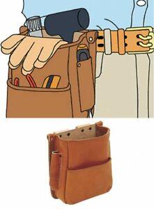 TRUSCO NK Kip Skin Leather Waist Tools Organizer Holder Bag Japan with Tracking
