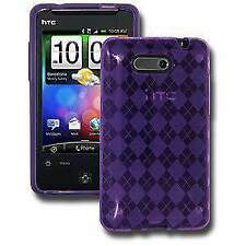 AMZER Luxe Argyle Skin Fit Case Cover for HTC Aria - Purple