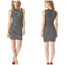 Alice + Olivia Havana Eyelash Fitted Dress Size M 8/10 UK Wool Knitted Career