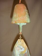 "Arcosanti Paolo Soleri 10"" Bronze Wind Bell Nice Little 2.5"" Bell Natural Patina"