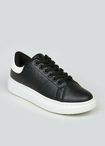 Womens Black Chunky Sole Trainers UK Size 6