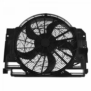 TRQ  A/C AC Radiator Condenser Cooling Pusher Fan 5 Blade& for 00-06 BMW X5