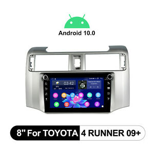 64GB 8 Inch Android 10.0 Radio Replacement Bluetooth5.1 For Toyota 4runner 2009+