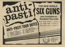 31/10/81PGN41 ADVERT: ANTI-PASTI NEW SINGLE SIX GUNS AND TOUR DATES 5X7