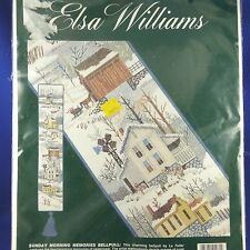 Elsa Willams Folk Art Country Village Counted Cross Stitch Bell Pull Kit~NIP