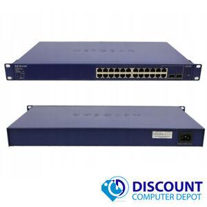 Netgear Prosafe GS724TP V1H1 24-Port 10/100/1000 Gigabit Ethernet Switch PoE