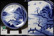 Japanese Old Imari Large Plate Dish / �伊万里 染付山水楼閣文 / W 45× H 5 [cm] / Edo Period