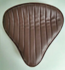 Large Custom Solo Seat Brown Tuck n Roll to fit Harley Bobber Chopper Triumph
