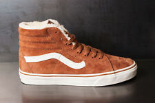 Vans Sk8 Hi (Pig Suede/Fleece) Monk Robe/Blanc Men's SIZE 8