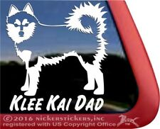Klee Kai Dad | Alaskan Klee Kai Vinyl Dog Decal Sticker