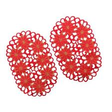 2x Kitchen Table Mat Insulation Bowl Red Floral Placemat Dining Pad European