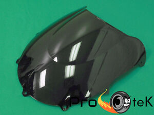 For 97-00 Suzuki GSXR600 97-99 GSXR750 Black Double Bubble Windscreen Windshield
