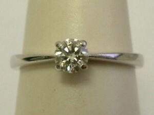 CLASSY 9CT WHITE GOLD LADIES SOLITAIRE DIAMOND RING - 0.25 CARAT