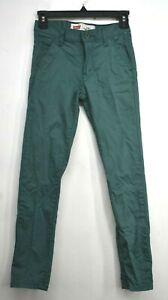 Levis Girls Green Comfortable Casual Cotton Blend Super Skinny Denim Jeans 10R