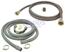 Universal Washing Machine Fill Water Pipe and Drain Hose Extension Kit 2.5m