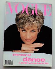 Vogue Magazine Dec 1991 Princess Diana