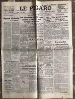 N9 La Une Du Journal Le Figaro 24 Juillet 1942