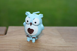 2 x Blue Owl Candles - Christening Party / Baby Shower baby Boy Gift