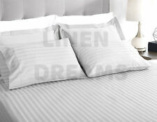 1000TC Striped Microfibre Fitted Flat Sheet Set or Doona Quilt Cover All Size