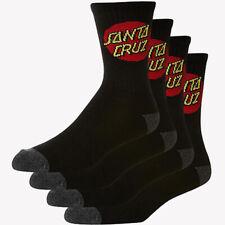 Santa Cruz Youth Socks 4 Pairs Black
