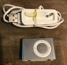 Apple iPod Shuffle A1204 2nd Generation 1GB MP3 Player Silver w/ Charging Dock