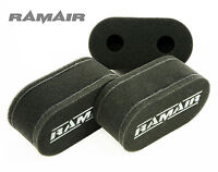 3 x RAMAIR High Flow UK Made Foam Carb Sock Air Filters Triumph GT6 Weber 40