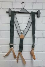 """GREY AND BROWN NO2 DRESS TROUSER BRACES - Length: 43"""" , British Military Issue"""