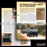 #vm006.09 ★ VBRG BLINDE A ROUES DE LA GENDARMERIE ★ Fiche Véhicule Militaire