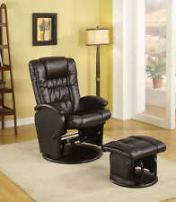 Brown Glider Recliner and Ottoman by Coaster 600164