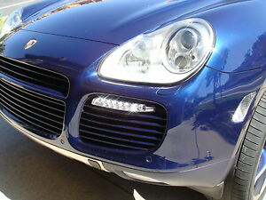 Porsche Cayenne 955  997 Turbo style LED DRL Turn signal Daytime running lights