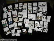VARIOUS PIERCED EARRINGS, Sterling Silver & other metals Studs, hoops, Dangles