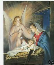 "Catholic Print Picture Christmas Nativity Jesus & Mary 8x10"" ready for framing"