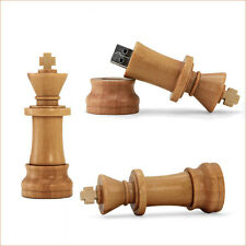 Creative Wood Chess USB 2.0 Flash Drives U Disk Memory Stick Speed Capacity 4GB
