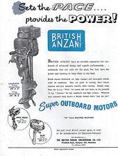 BRITISH ANZANI UNITWIN Outboard MOTOR ADVERT - 1956 magazine Advertisement