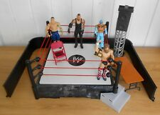 WWE - wrestling ring & accessories play set w/ John Cena & Undertaker figures