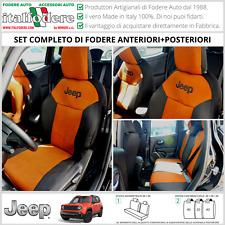 FODERE COPRISEDILI Jeep Renegade SU MISURA! Fodera Foderine COMPLETE Arancio 312