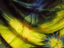 Sarong-Pareo-Tuch-Strandtuch-Schal, blau-grün-gelb batik, neu