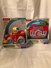 New Fisher-Price Laugh & Learn Lot of 2 Counting w/ Puppy Book & Press N Go Car